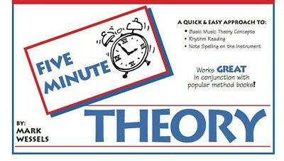 """MARK WESSELS-FIVE-5 MINUTE THEORY MUSIC BOOK FOR """"GENERAL MUSIC"""" NEW ON SALE!!"""