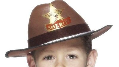 Child Size Brown Cowboy Hat Costume Cow Boy Western Rodeo Boys Kids EVA Foam - Foam Cowboy Hats
