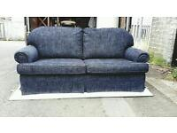3 seater sofa in blue fabric £110 delivered