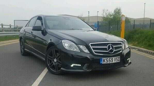2010 mercedes e class e220 cdi amg sport blueefficiency bi turbo diesel black manual saloon sat. Black Bedroom Furniture Sets. Home Design Ideas
