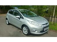 2010 Low Mileage Ford fiesta Zetec 1.25 Petrol 5 dr Manual Silver