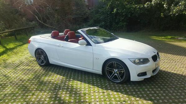 bmw 320d convertible m sport manual diesel white 2012 in st ives cambridgeshire gumtree. Black Bedroom Furniture Sets. Home Design Ideas
