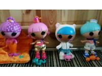 4 medium sized lalaloopsy dolls