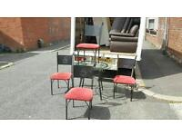Glass table and 4 chairs £70 delivered