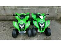 Green 6v electric quad bike