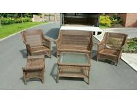 Beautiful Italian hand woven wicker garden/conservatory set £149 delivered