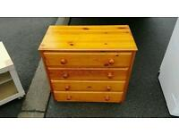 Solid pine chest of drawers £40 delivered