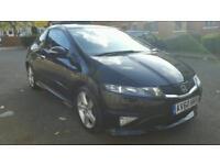 Honda civic type s 2011 very low miles 41k black 3dr not type r megane st rs sport golf leon