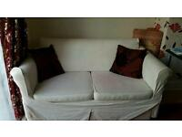 White sofa bed with washable cover