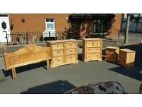 Beautiful mexican pine bedroom furniture set in excellent condition! Free delivery