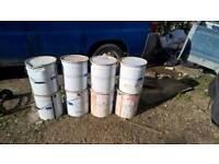 6 large tins of Tex coat paint