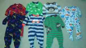 7 pairs of 12 month fleece boy pyjamas