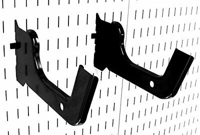 New Wall Control 10 Hd 012 B Heavy Duty Pegboard Hook Slotted Hook Pair Black