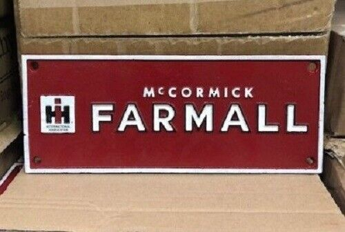 VINTAGE STYLE  FARMALL IH INTERNATIONAL HARVESTER CAST IRON  SIGN OIL MAN CAVE
