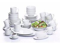 60 PIECE WHITE COUPE VERMONT DINNER SET