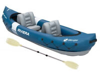 Sevylor Riviera Inflatable Kayak - used twice(as new)
