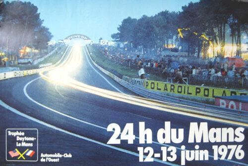 Poster 1976 24 Heures Mans original Le Mans Hours race A