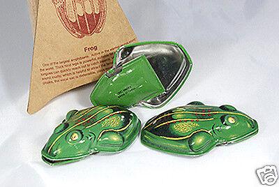 Blechfrosch, Knackfrosch 3 Stück Frosch zum Klacken Dressur für Hund und Katze