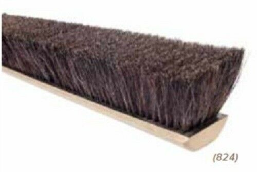 "Magnolia Brush #824 24"" Horsehair & Tampico Floor Brush Push Broom Head"