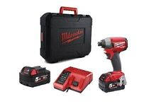 Milwaukee Impact Driver 3 X 5 amps and some other goodies.