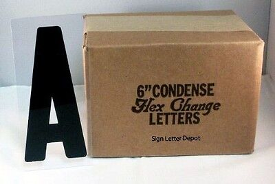 6 Condensed Changeable Sign Letters Printed On 6 78 Clear Flex Plastic Panel