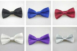 Boys Satin Bowtie, See Available Colours - New