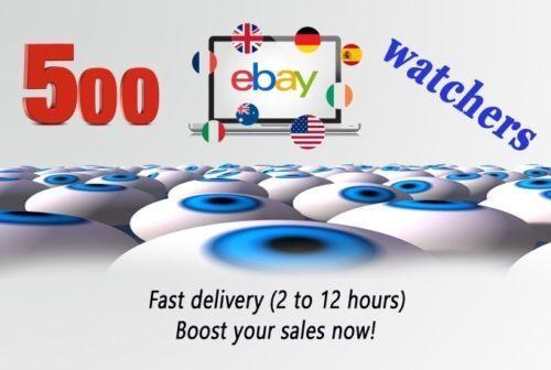 500 ebay watchers