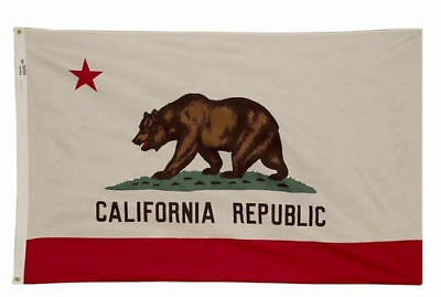 Nylon California State Flag - California State Flag, Quality Nylon, Brass Grommets, All Sizes, You Pick