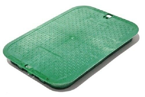 "NDS 12"" x 17"", Green, Irrigation Control Valve Box Cover."