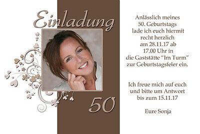 20 x Einladungskarten Geburtstag Einladung mit Foto Karte + Kuvert