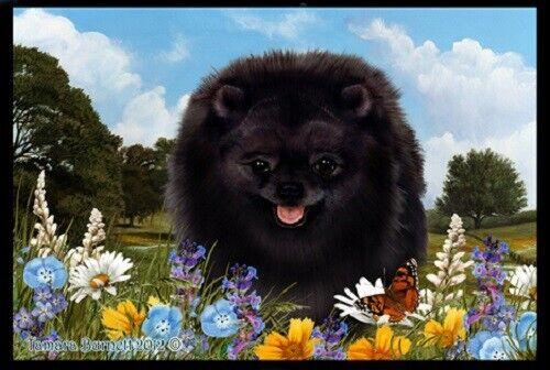 Summer Floor Mat - Black Pomeranian 39255