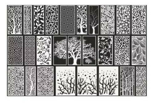 500 File Vector Screens Laser Cut CNC Decorative Panels EPS, AI, CDR, PDF Format