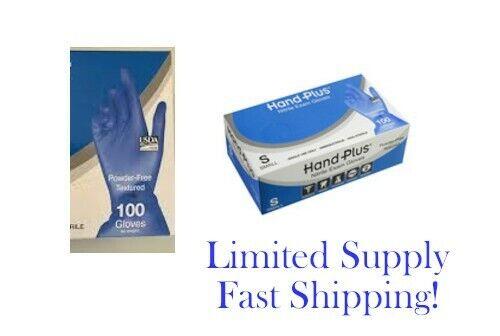 Blue Disposable Nitrile Gloves Powder Latex Free Size S (Box 100)