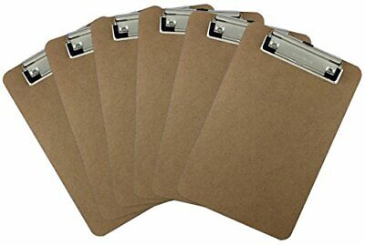 Trade Quest Memo Size 6 X 9 Clipboard Low Profile Clip Hardboard Pack Of 6