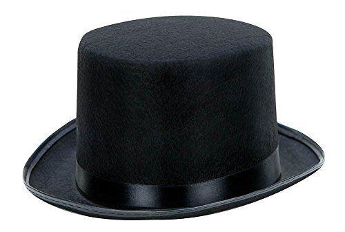 Zylinder in schwarz Hut Zylinderhut für Karneval Fasching Zauberer Partyhut