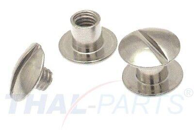 10 Stück Buchschrauben 5mm Kopf 10mm Silbern Chicagoschrauben Buchnieten