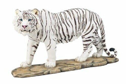 "12"" White Tiger Statue Figurine Safari Wildlife Wild Cat Animal Figure"