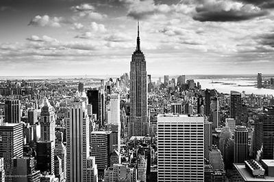 EMPIRE STATE BUILDING - NEW YORK CITY POSTER - 24x36 CITYSCAPE SKYLINE NYC 10760