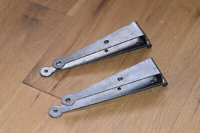 A PAIR OF VINTAGE STYLE CRANKED BOX TRUNK HINGES CHEST COFFER HINGE PINE LID
