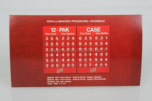 ORIGINAL-Schlitz-Beer-PRICEBOARD-12-PAK-CASE-Dealer-Advertising-Card-OLD-STOCK