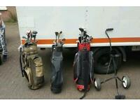 Golf clubs + trolley etc £95 delivered