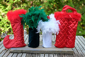 Hand made decorative wine bags. Peterborough Peterborough Area image 1