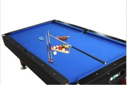 POOL TABLE 8FT SNOOKER BILLIARD TABLE BLUE / BLACK