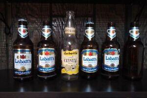 Vintage Labatt  beer bottles