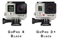 Rent GoPro 4 Black Cameras w/Mounts INCLUDED