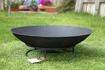 Round Outdoor Metal Fire Pit Bowl for Garden Patio Heating