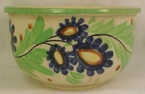 Vintage-Cobalt-Blue-Flowers-Nesting-Mixing-Bowl-Japan-Hand-Painted-Pottery-NICE