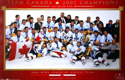 Team Canada Hockey 2002 OLYMPIC GOLD CELEBRATION ON ICE Vintage Original POSTER