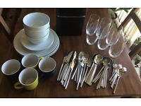 Crockery, cutlery and glassware