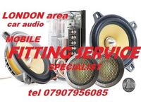 Car audio radio parrots bluetooth subwoofers subs amplifier amp navigation speakers london area